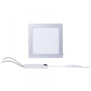 LED panel 225×225, přisazený stříbrný, 18W neutrální bílá