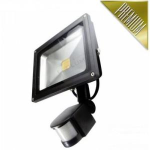 LED reflektor 30W COB EPISTAR, PIR, STUDENÁ