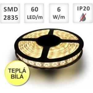 LED pásek 60ks 2835 6W/m TEPLÁ, cena za 1m