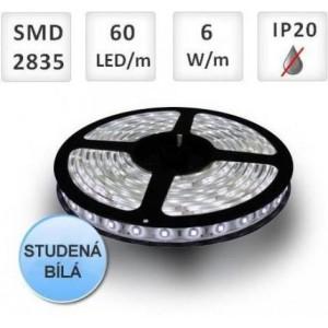 LED pásek 60ks 2835 6W/m STUDENÁ, cena za 1m