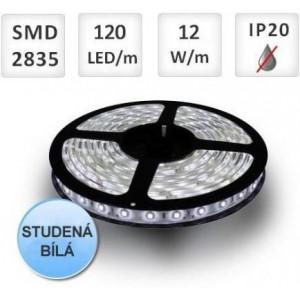 LED pásek 120ks 2835 12W/m 1m, STUDENÁ