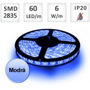 LED pásek MODRÝ 1m 60xSMD2835 6W/m