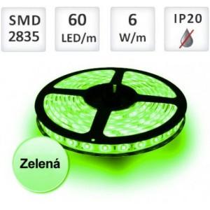 LED pásek ZELENÝ 1m 60xSMD2835 6W/m