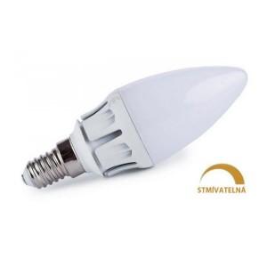 LED žárovka 7W 13xSMD2835 E14 630lm TEPLÁ STMÍVATELNÁ