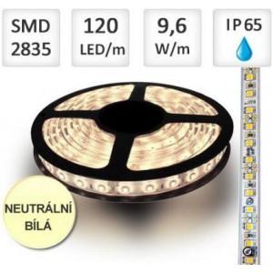LED pásek 120ks/m 2835 12W/m voděodolný-silikon 1m, NEUTRÁLNÍ