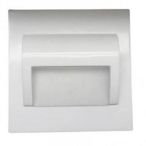 LED nástěnné schodišťové svítidlo BERYL bílé 1,5W 9xSMD3014 12V DC studená bílá