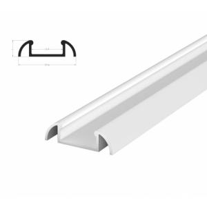 Hliníkový profil BRG-2 1m pro LED pásky, bílý