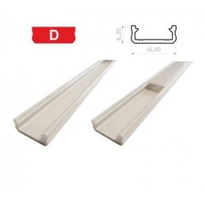Hliníkový profil LUMINES D 2m pro LED pásky, bílý lakovaný
