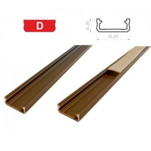 Hliníkový profil LUMINES D 1m pro LED pásky, inox