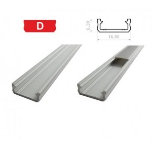 Hliníkový profil LUMINES D 1m pro LED pásky, stříbrný eloxovaný