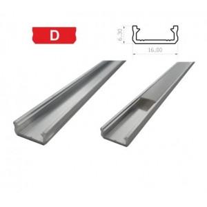 Hliníkový profil LUMINES D 1m pro LED pásky, hliník