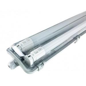 KOMPLET Prachotěsné svítidlo +2 LED trubice T8 9W 60cm STUDENÁ