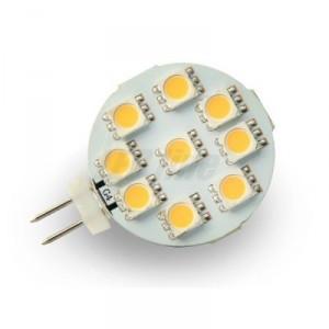 LED žárovka 1,8W 9xSMD G4 125lm STUDENÁ BÍLÁ 12V DC