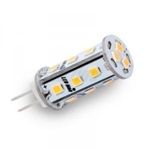 LED žárovka 3W 18xSMD2835 G4 295lm STUDENÁ BÍLÁ 12V DC