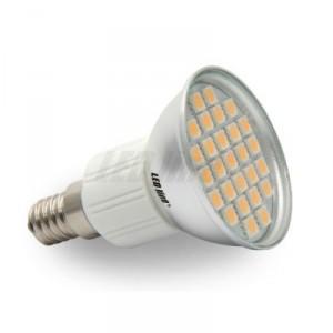 LED žárovka 5W 27xSMD E14 450lm TEPLÁ BÍLÁ