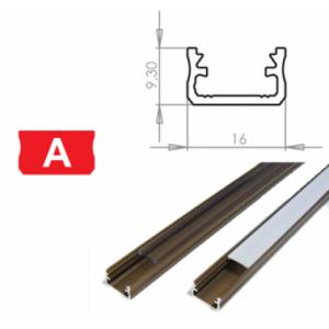 Hliníkový profil LUMINES A 2m pro LED pásky, inox