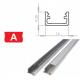 Hliníkový profil LUMINES A 2m pro LED pásky, hliník