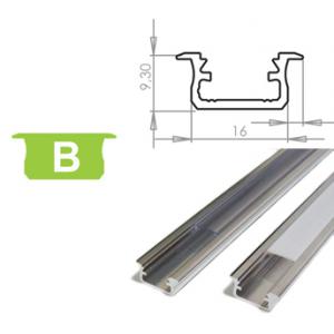 Hliníkový profil LUMINES B zápustný 3m pro LED pásky, hliník