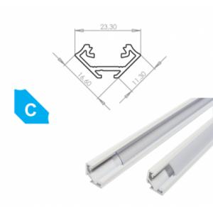 Hliníkový profil LUMINES C 2m pro LED pásky, lakovaný bílý