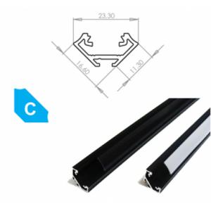 Hliníkový profil LUMINES C 3m pro LED pásky, eloxovaný černý
