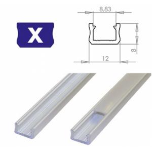 Hliníkový profil LUMINES X 1m pro LED pásky, bílý