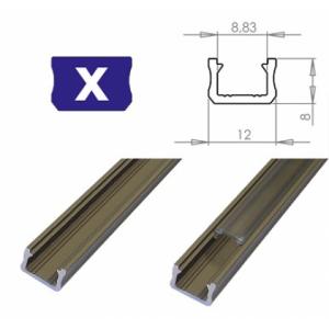 Hliníkový profil LUMINES X 1m pro LED pásky, inox