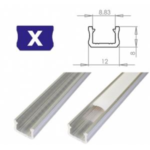 Hliníkový profil LUMINES X 1m pro LED pásky, hliník