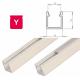 Hliníkový profil LUMINES Y 2m pro LED pásky, bílý lakovaný
