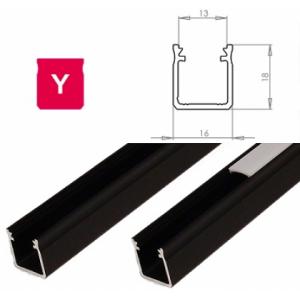 Hliníkový profil LUMINES Y 1m pro LED pásky, černý