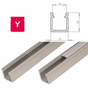 Hliníkový profil LUMINES Y 1m pro LED pásky, stříbrný eloxovaný