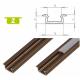 Hliníkový profil LUMINES Z zápustný 1m pro LED pásky, inox