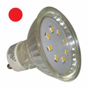 LED žárovka 1W 20xSMD2835 GU10 90lm ČERVENÁ