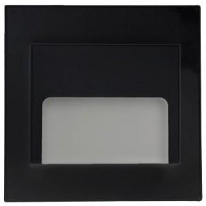 LED nástěnné schodišťové svítidlo ONTARIO černé 1,5W 9xSMD3014 12V DC studená bílá