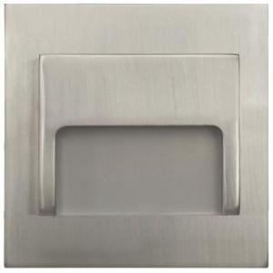 LED nástěnné schodišťové svítidlo ONTARIO matný chrom 1,5W 9xSMD3014 12V DC studená bílá
