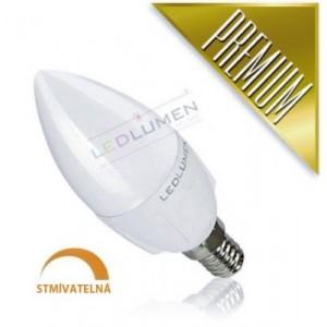 LED žárovka 6W 8x2835 E14 600lm  CCD TEPLÁ STMÍVATELNÁ