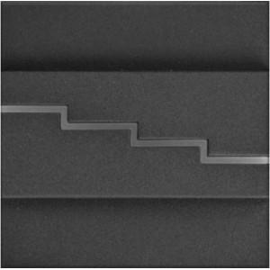 LED nástěnné schodišťové svítidlo SECRETO grafit 1,2W 12xSMD3014 12V DC teplá bílá