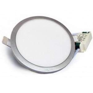 LED panel vestavný SLIM 12W 1100lm 145mm 230V stříbrný, STUDENÁ BÍLÁ