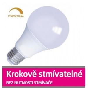 LED žárovka 10W SMD2835 E27 880lm teplá STMÍVATELNÁ