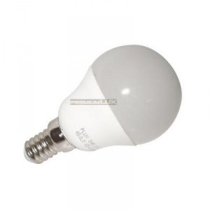 LED žárovka E14 7 LED SMD 2835 6W CCD koule studená bíla