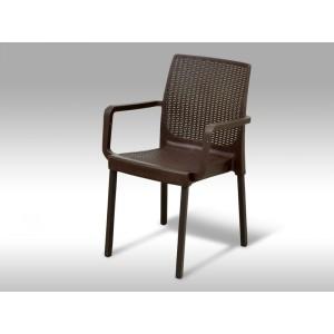 Zahradní plastová židle Cordoba hnědá