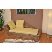 Odpočinková pohovka pravá  banánový list polstr žlutý