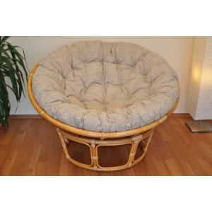 Ratanový papasan 130 cm medový - polstr Ebony