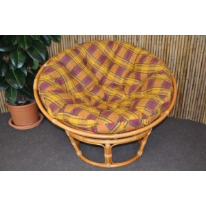 Ratanový papasan 110 cm medový okrový CZ