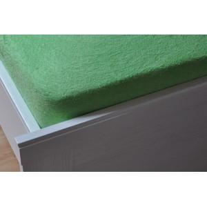 Froté prostěradlo 90x200 cm světle zelené