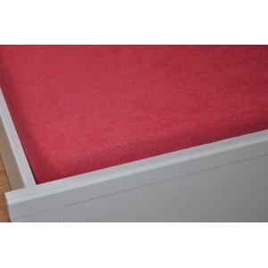 Froté prostěradlo 90x200 cm červené tmavé