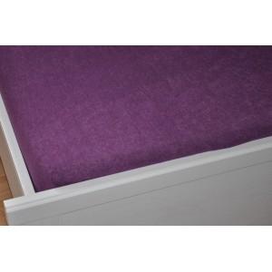 Froté prostěradlo 90x200 cm fialové