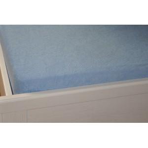 Froté prostěradlo 90x200 cm světle modré