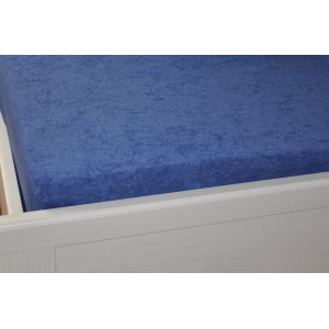 Froté prostěradlo 90x200 cm tmavě modré