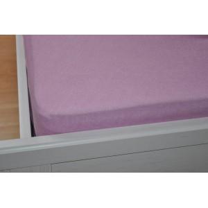 Froté prostěradlo 180x200 cm růžové