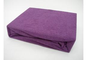 Froté prostěradlo 90x200 cm fialové exclusive